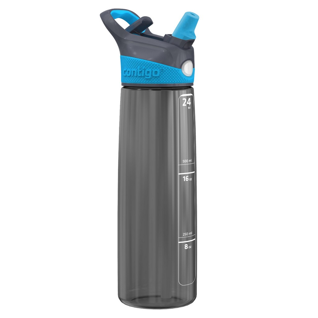 Water Bottle Addison Charcoal/Blue