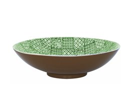Minerva Salladsskål 35 cm, Grön