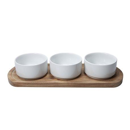 Serveringsfat med skålar